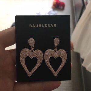 NWT Baublebar heart earrings